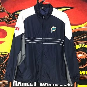 Miami Dolphins Old Logo Zip Up Jacket Sweater